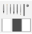 stationery template set vector image
