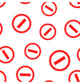 stop sign icon seamless pattern background vector image vector image