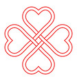 symbol love and good luck interlacing knot vector image vector image
