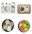 Table decoration top view set 1 vector image vector image
