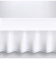 Table with a white cloth vector image vector image