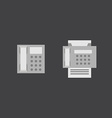 Telephone and fax icons vector image