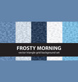 triangle pattern set frosty morning seamless vector image vector image