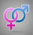 venus and mars female and male symbol vector image vector image
