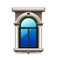 Vintage window with columns isolated vector image vector image