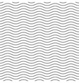Wavy line black-white seamless pattern vector image