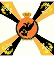 White Flag Life Guard Lithuanian Regiment vector image vector image