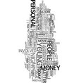 young people and personal finance text word cloud vector image vector image