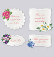 set of cute frame with flowers holiday floral vector image