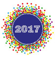2017 happy new year background with confetti vector image vector image