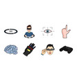 a virtual reality icons in set collection for vector image vector image