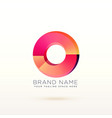 abstract circle shiny logo concept design vector image