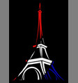 abstract logo or sign for france paris and eiffel vector image vector image