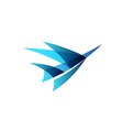 Airplane abstract logo vector image vector image