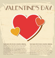 amorous retro poster vector image vector image