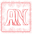 AN monogram vector image vector image