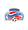 arena soccer or football sport stadium icon vector image vector image