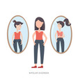bipolar mental disorder sad and happy girl vector image