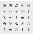 black Technology icons set vector image vector image