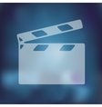 clapper cinema icon on blurred background vector image vector image