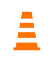 cone icon isolated on white vector image vector image