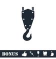 Crane hook icon flat vector image vector image