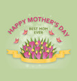 cute happy mothers day background in paper art vector image vector image