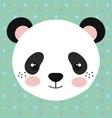 cute panda bear head tender character vector image
