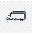 delivery truck concept linear icon isolated on vector image