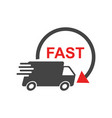 delivery truck fast delivery service shipping vector image vector image