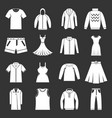 different clothes icons set grey vector image vector image
