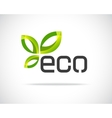 Eco Leaf Logo vector image
