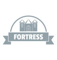 emblem fortress logo simple gray style vector image vector image