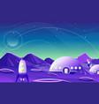 fantasy space landscape planet cartoon flat design vector image vector image