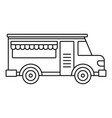 fast food truck icon outline style vector image vector image