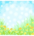 Flowers and sky background vector image