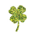 four leaf clover dotted vector image
