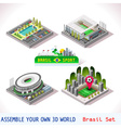 Game Set 08 Building Isometric vector image vector image