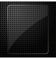 Glass plate on black background vector image vector image