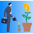 Growing new business concept vector image vector image