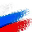 grunge background in colors of russian flag vector image