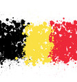 grunge blots belgium flag background vector image