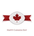 Happy Canada Day greeting Card Template vector image