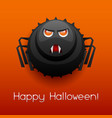 happy halloween angry spider vector image