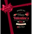 Happy Valentines day typographical holiday vector image vector image