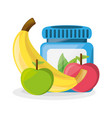 healthy pills treatment and delicious fruits vector image vector image