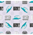 Home appliances seamless pattern vector image