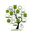 Infographic tree template for your design vector image vector image