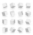 isolated 3d modeling square blocks isometric vector image vector image