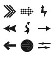 isolated object of element and arrow icon vector image